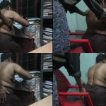 Image Desi mature aunty only in underskirt uncle Seducing Her Mms