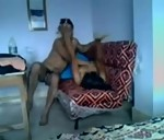 Image Young college girl fucked by lover on sofa