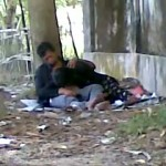 Image College Lover Nude at Park Gf Giving Blowjob to Lover