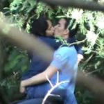 Image Hot College Lovers Doing Kissing in Public